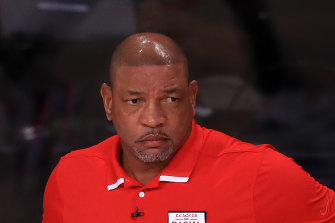 New 76ers coach Doc Rivers.