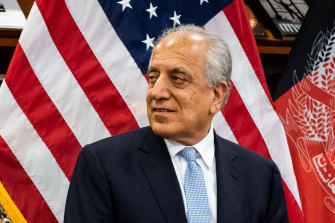 Zalmay Khalilzad, the top American negotiator in talks with the Taliban, at the US Embassy in Kabul.