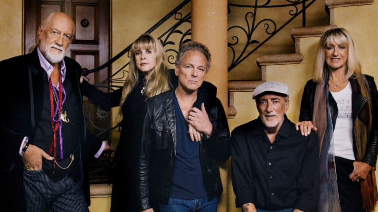 Fleetwood Mac, with Nicks and Buckingham (centre), in happier times.