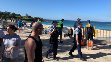 Coogee Beach was shut on Friday amid fears of overcrowding.