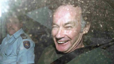 Convicted murderer Ivan Milat leaves an appeal court in a police car on November 4, 1997.