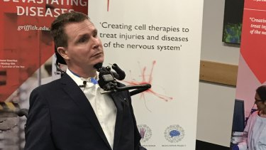 Perry Cross says he's hopeful the new treatment will be in clinical trials in the next year.