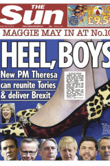 The British media had a fascination with Theresa May's shoes.