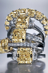 The Rosendorff 'Golden Collection' Fancy Yellow Diamond Rings were designed and handmade in Perth.