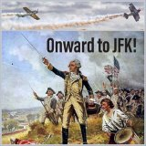 """One of the many memes sparked by Donald Trump's claim that Revolutionary War troops """"took over airports"""" in the late 1770s."""