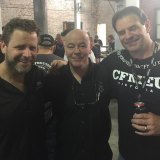 Christy Cain (centre) is close to John Setka (right).