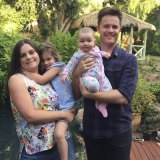 Carmen Allan-Petale with her husband David Allan-Petale and their two daughters Ruby, 4 and Bronte, 10 months.