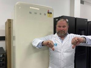 Fridge expert Ashley Iredale said the retro-inspired fridge scored zero out of 100 for temperature stability.