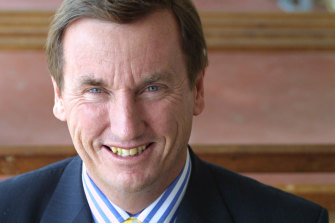 Stephen Russell faced public pressure to resign as principal of St Kevin's College in Toorak.