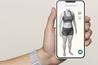 The app requires you to take photos of your body to build an analysis.