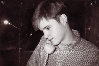 A young Matthew Shepard on the phone. Shepard was brutally beaten and left to die in October of 1998.