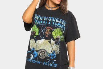 Clothing sold by Culture Kings featuring Mike Tyson's likeness.
