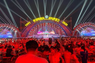 Qingdao had largely returned to normal before the latest outbreak. Here locals celebrate at a beer festival in August.