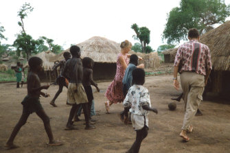 Jane Tewson in Malawi, 1991.