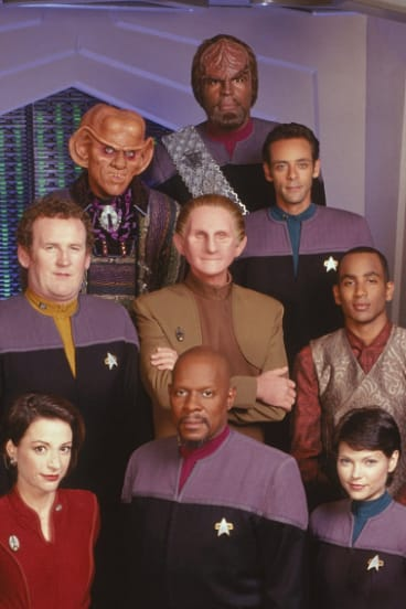The cast of Star Trek: Deep Space Nine.