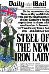 The Daily Mail on Theresa May following her Lancaster House speech.