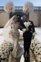 The couples lavish Italian wedding.