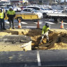 Second sinkhole forms at major Perth shopping centre