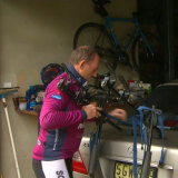Tony Abbott heading out for a bike ride on the day after he lost his seat.