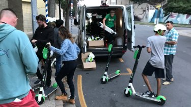 The Lime scooter trial in Brisbane.