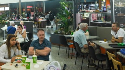Growth of cafes and food courts is squeezing mall retail sales