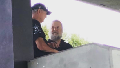 Maximus and Benny: Russell Crowe rides into Redfern to support Bunnies