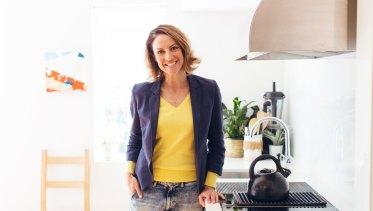 Sarah Wilson in her kitchen.