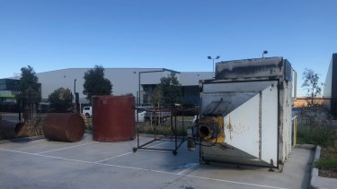 Council inspectors ordered workers to dismantle an industrial incinerator at the site.