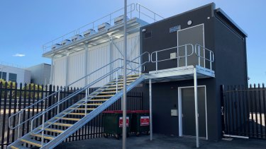 The new micro data centre at NextDC's P2 site in East Perth.