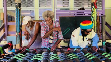Torres Strait artists from Mer, also known as Murray Island, are showing their work.