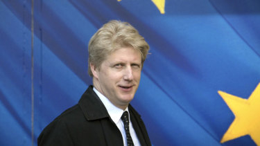 Jo Johnson visits the the European Commission in Brussels in 2017.