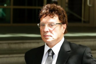 Nino Napoli outside the Melbourne Magistrates Court in 2017.