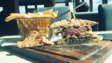 The steak sandwich at Karalee on Preston in Como was all bling.