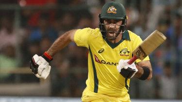 Glenn Maxwell helped saved Australia's innings against Pakistan in Dubai.