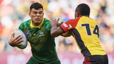 David Fifita represented Australia in the World Nines tournament last month.