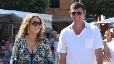 Mariah Carey And James Packer when they were a couple.