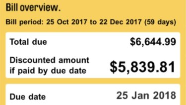 Thompson's previous estimated bill was for almost $6000.