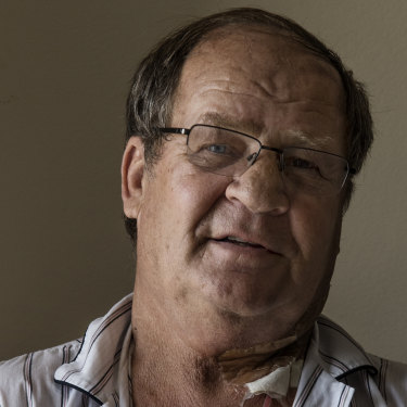 Tommy Raudonikis in his hospital room at Princre of Wales in December 2017.