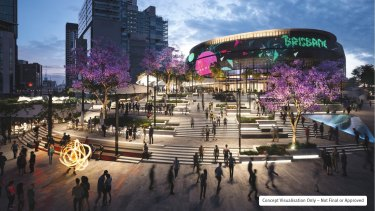 Concept designs for the Brisbane Live arena released by the state government in December 2019.