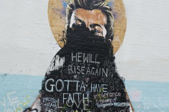 The mural of George Michael in Newtown was defaced after the same-sex marriage vote.