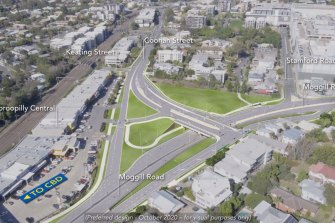 The planned upgrade includes an overpass and traffic lights.