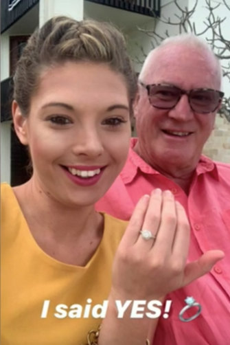 """""""It started with a crush and now I have a ring on my finger,"""" Ashleigh wrote of her engagement."""