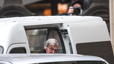 George Pell arrives at the Supreme Court to hear the decision on his appeal against convictions of historical sex offences.