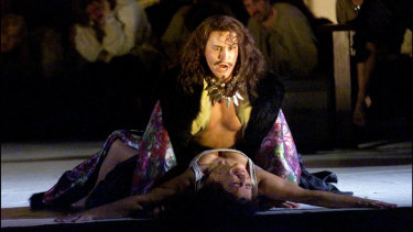 Benjamin Britten's The Rape of Lucretia is an example of violence against women depicted on stage.