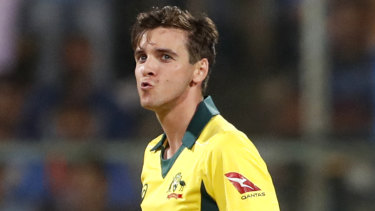 Heading home: Injured Australian paceman Jhye Richardson.