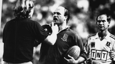 Queensland legend Wally Lewis became a hate figure to opposing fans.