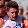 Hogan fires as Giants thrash timid Crows
