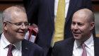Holding the line: Prime Minister Scott Morrison and Treasurer Josh Frydenberg