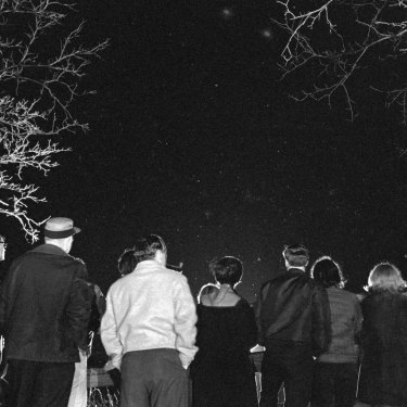 In 1966, with unidentified flying objects reportedly frequenting the southern Michigan area, curious citizens turned out by the hundreds to scan the night sky.