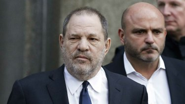 Harvey Weinstein leaves court in New York in 2018.